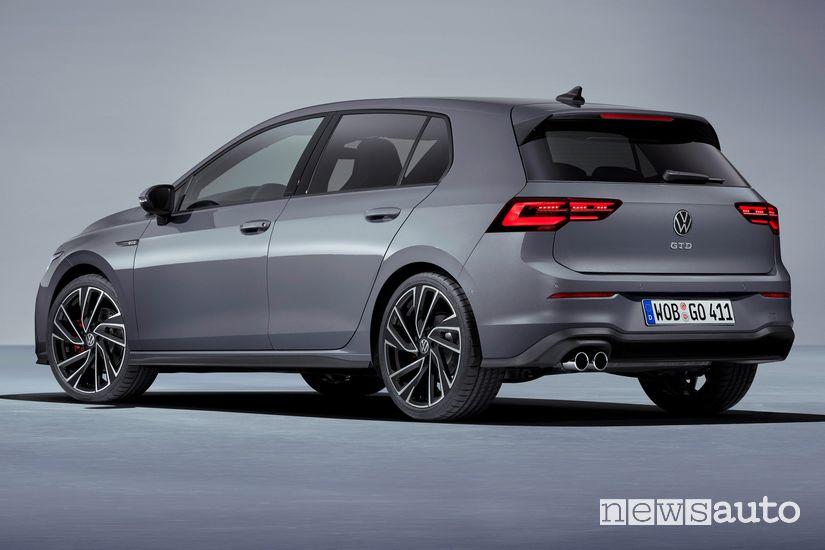 Vista posteriore Volkswagen Golf GTD 2020