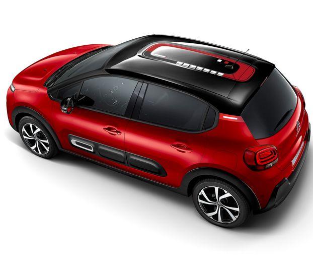 Vista dall'alto Citroën C3 2020