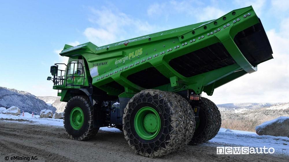 l'EDumper il camion elettrico più grande al mondo