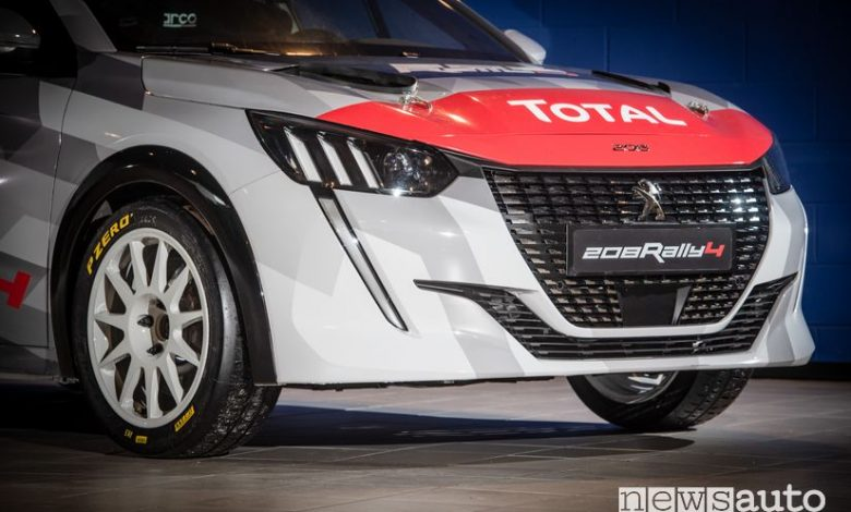 Frontale Peugeot 208 Rally 4