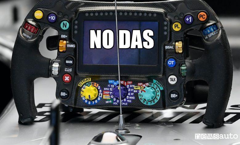 Il DAS non sarà più consentito in F1 dal 2021