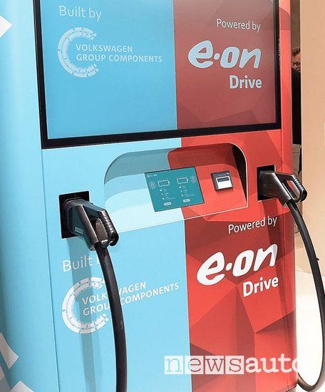 stazioni di ricarica auto elettriche Volkswagen ed E.ON