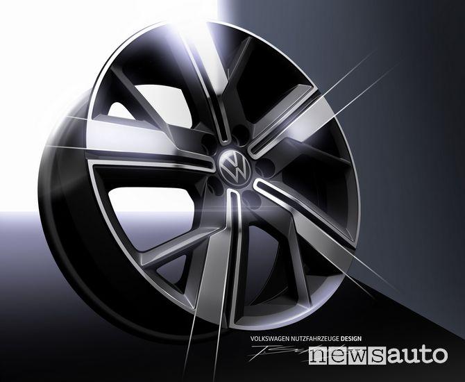 """Cerchi in lega leggera fino a 18"""" sul nuovo Volkswagen Caddy"""