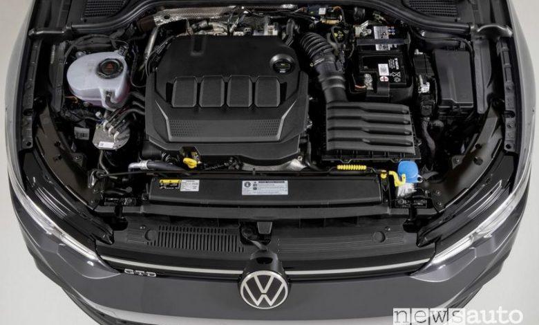 Vano motore turbodiesel TDI Volkswagen Golf GTD 2020