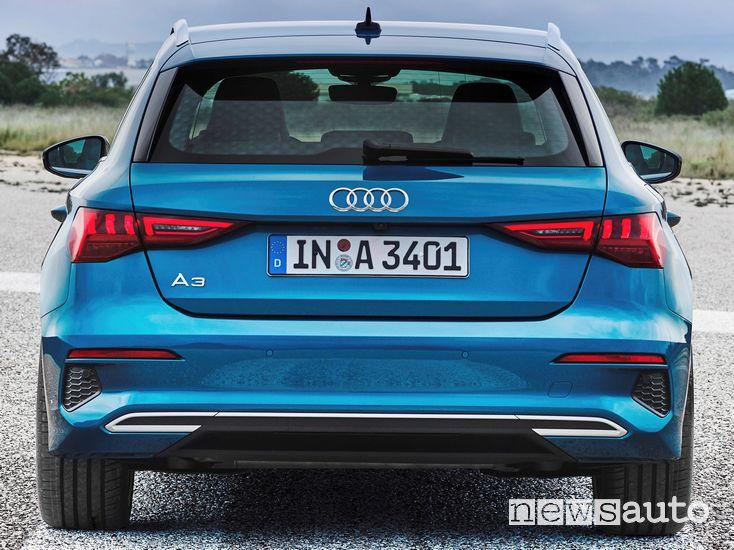 Posteriore Audi A3 Sportback 2020