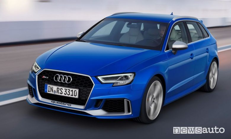 Vista anteriore Audi RS 3 Sportback 25 yeaRS