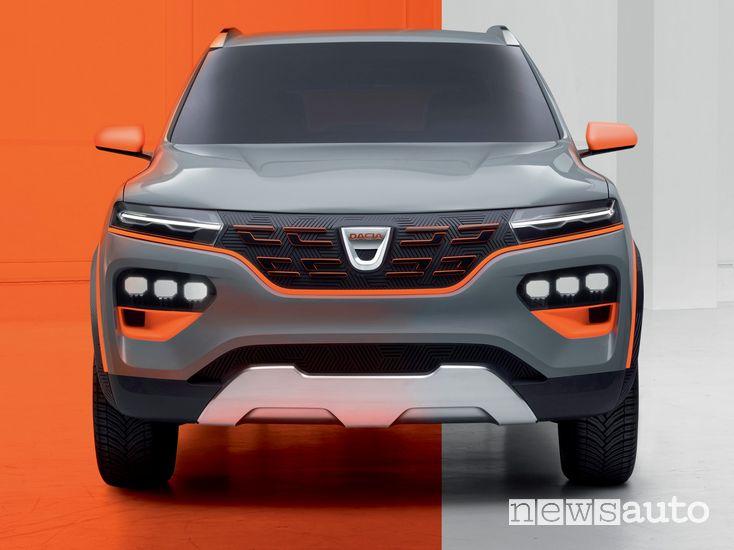 Frontale Dacia Spring show car elettrica