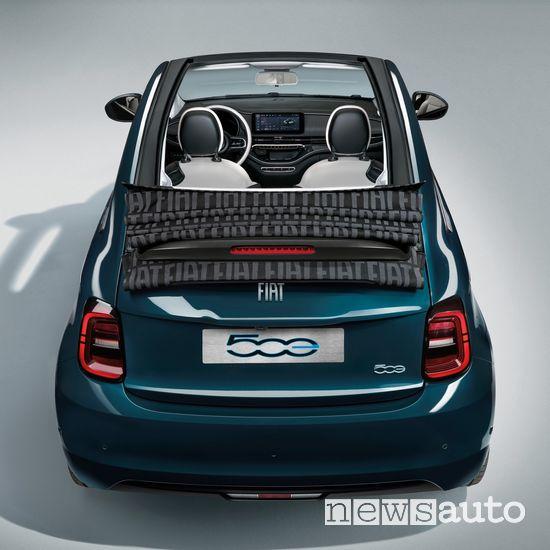 Paraurti posteriore Fiat 500 elettrica cabrio