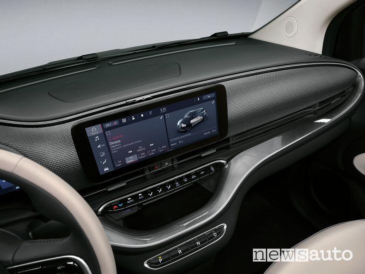 UConnect 5 schermo da 10,25'' Fiat 500 elettrica cabrio