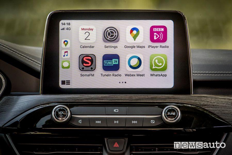 Apple CarPlay infotainment SYNC 3 Ford Kuga ST Line X EcoBlue Hybrid