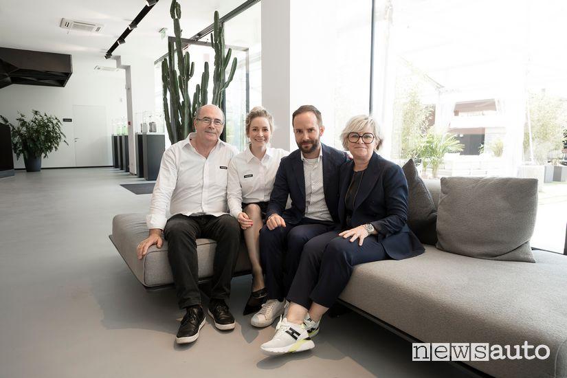 Da sx Franco Berton insieme a Marta Berton (responsabile marketing), Gabriel Berton e Norma Benedetti