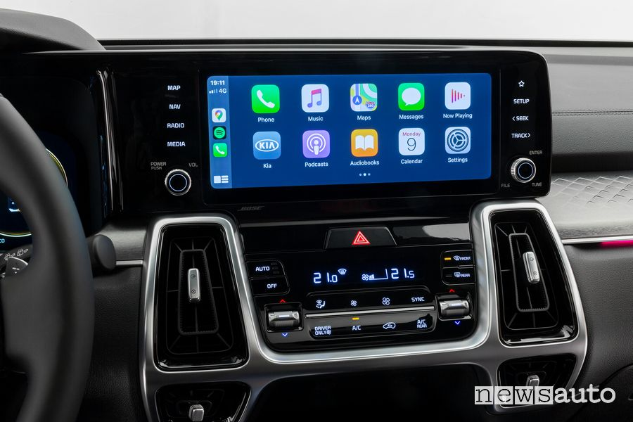 Infotainment Apple CarPlay Kia Sorento 2020