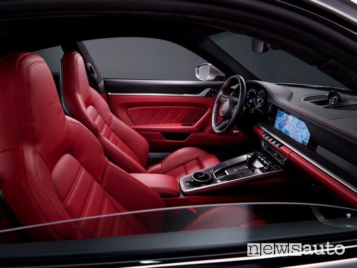 Sedili anteriori abitacolo Porsche 911 Turbo S Coupé