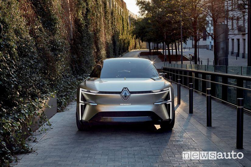 Vista anteriore Renault Morphoz concept-car