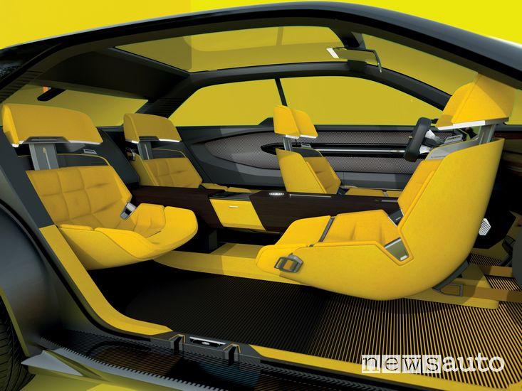 """Abitacolo in configurazione """"salotto"""" Renault Morphoz concept-car"""