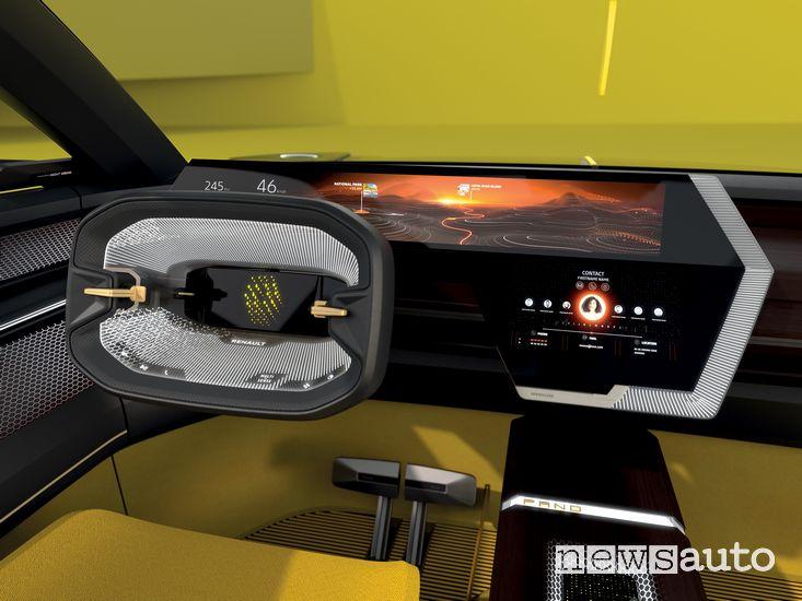 Volante display strumenti Renault Morphoz concept-car