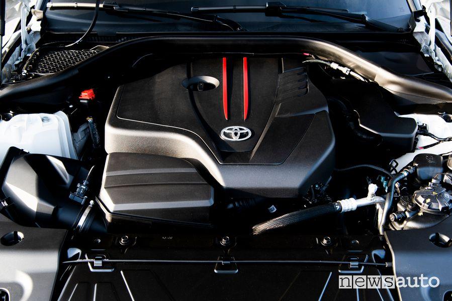 Vano motore 2.0 litri da 258 CV Toyota Supra GR 2.0 litri Fuji Speedway