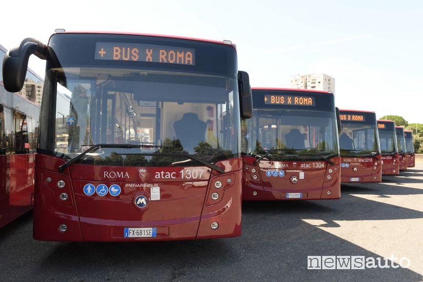 corse dei bus a Roma emergenza coronavirus