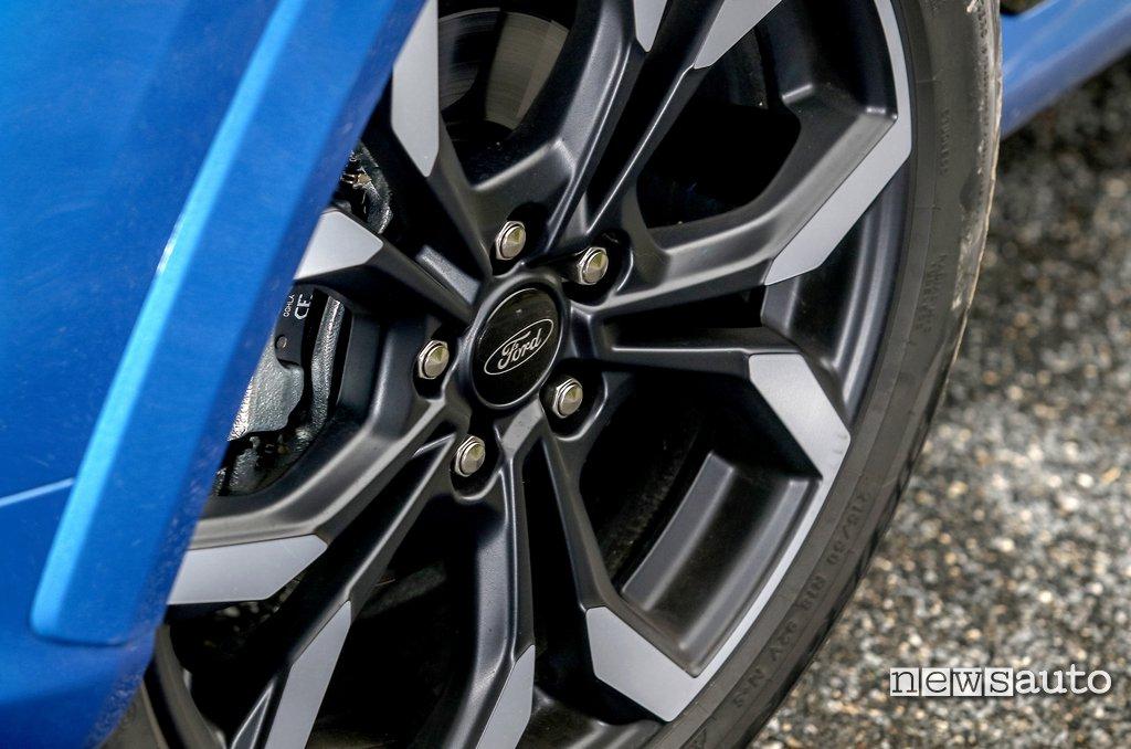 cerchio 18 pollici della Ford Puma ST- Line X oggetto della prova