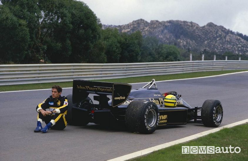 Ayrton Senna con la Lotus nel 1985