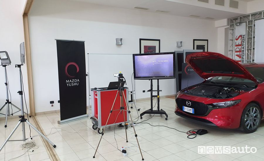 Set di ripresa My Lab Web dei corsi on line Mazda in e-learning Mazda con smart working