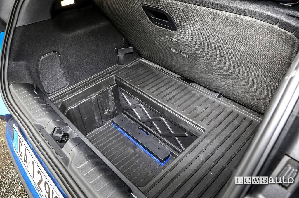 megabox da 80 litri Ford Puma 2020 una vasca impermeabile con foro di scolo
