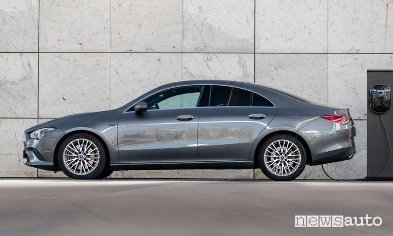 Mercedes CLA ibrida plug-in, elettrico+benzina EQ Power