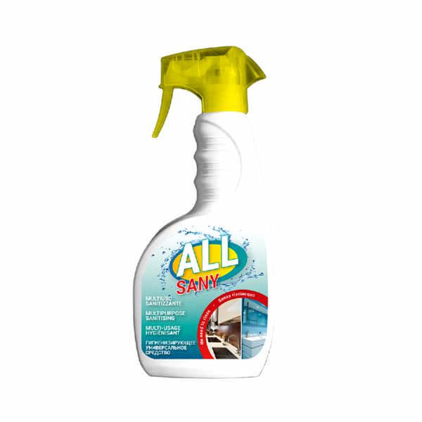 """""""All Sany"""", un detergente indicato per detergere ed igienizzare le superfici lavabili con formula senza risciacquo"""