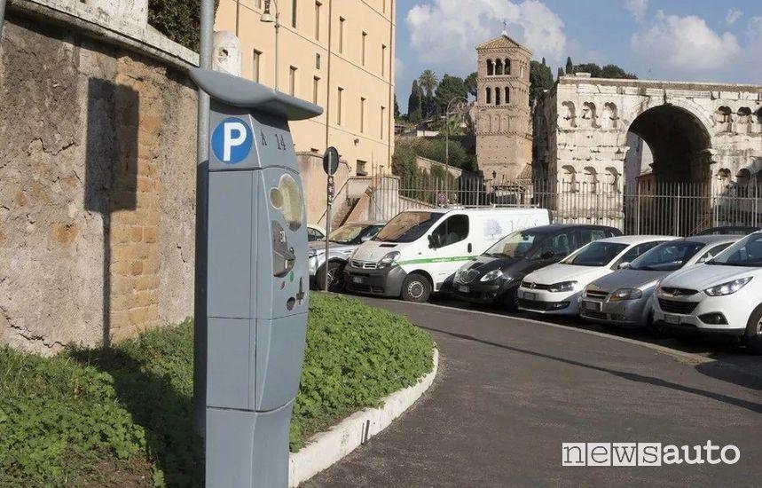 Parcheggi gratuiti a Roma sulle strisce blu