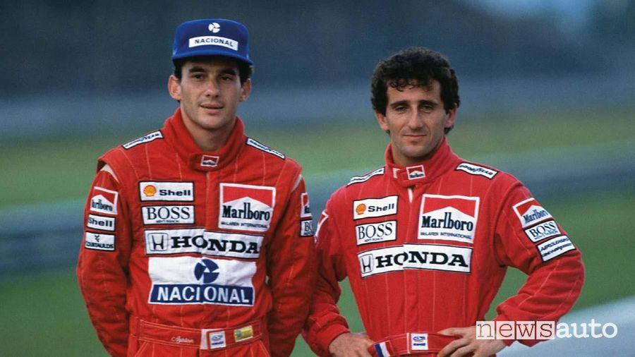 Ayrton Senna e Alain Prost alla McLaren