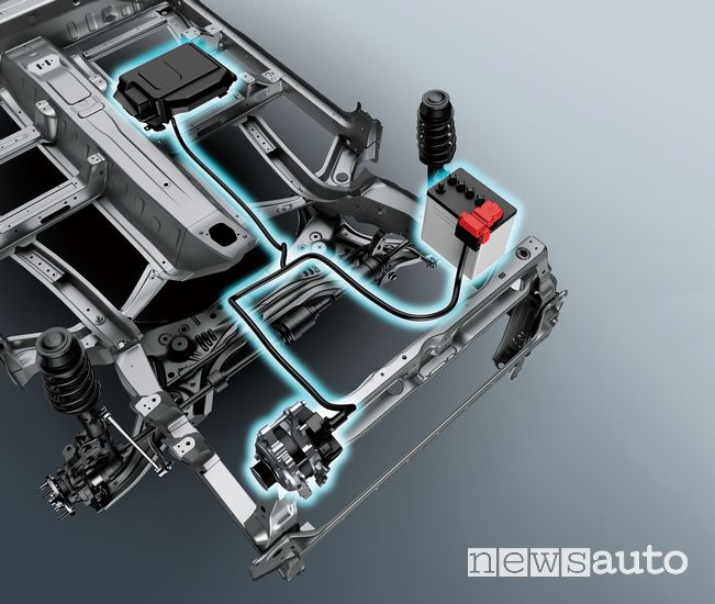 Sistema ibrido Suzuki Ignis Hybrid 2020, batteria ed alternatore reversibile