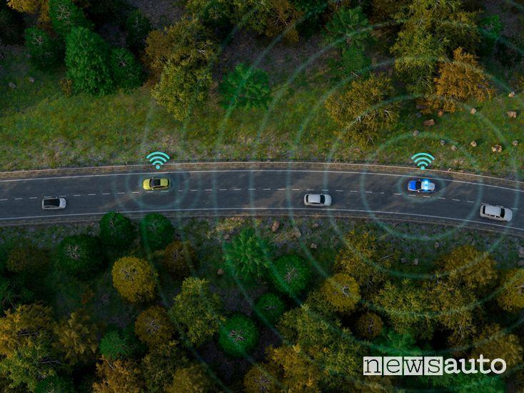 auto connesse Volkswagen tecnologia Car2X