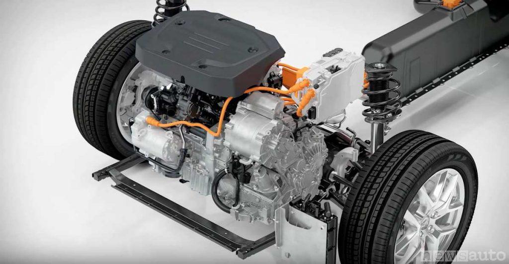 Doppio motore, elettrico 82 cv abbinato al 1.5 a benzina con 180 cv per un totale di 262 cv sulla Volvo XC40 Recharge T5 Plug-in Hybrid