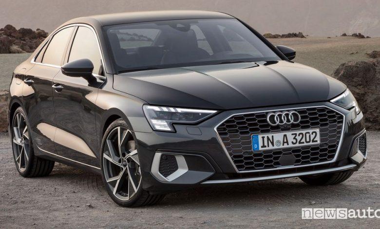 Vista anteriore Audi A3 Sedan