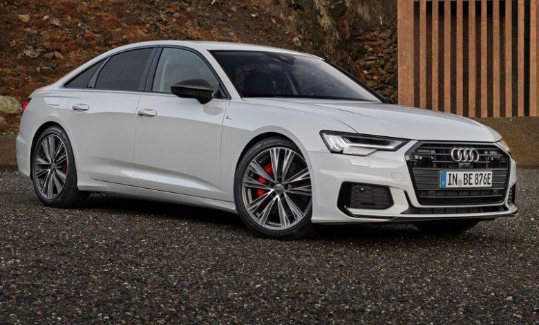 Vista di profilo Audi A6 55 TFSI e quattro