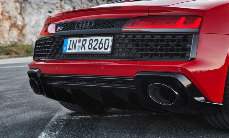 Scarico sportivo, estrattore posteriore Audi R8 V10 RWD Spyder