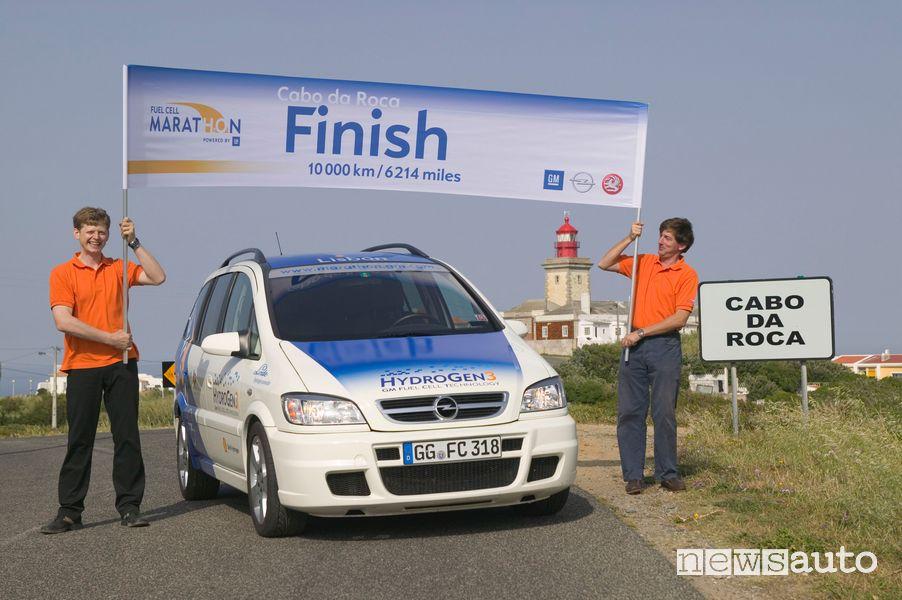 Fuel Cell Marathon del 2004 con veicoli Opel HydroGen3