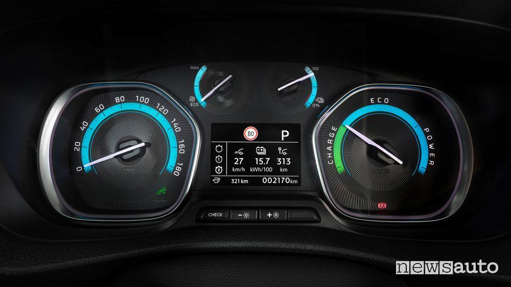 Cruscotto quadro strumenti Opel Vivaro-e elettrico