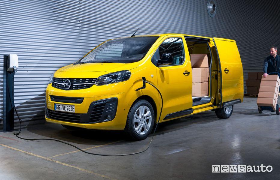 Ricarica da wallbox Opel Vivaro-e furgone elettrico