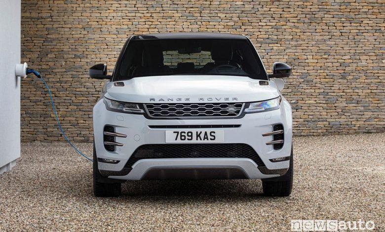 Ricarica da wallbox domestica Range Rover Evoque ibrido plug-in