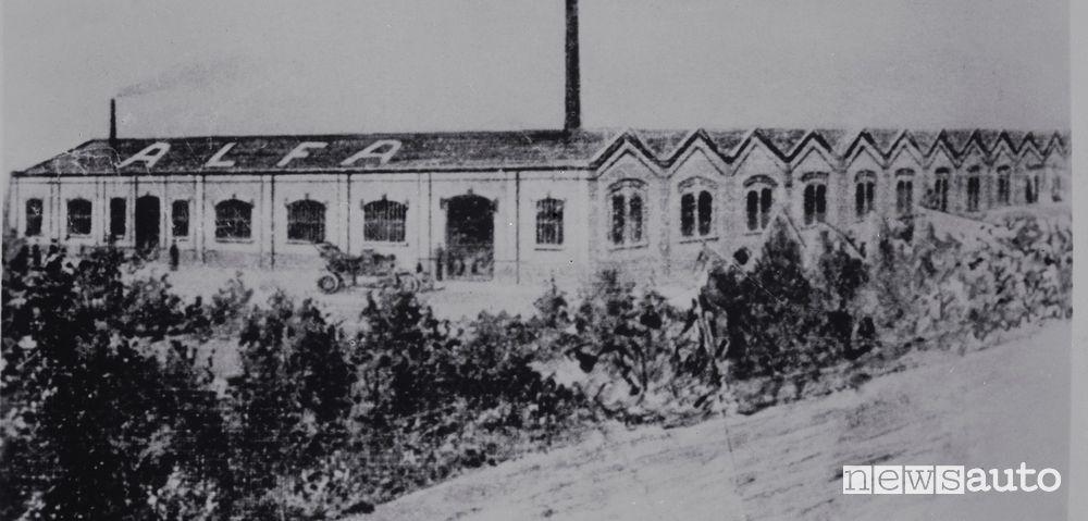 Stabilimento Portello Milano immagine del 1910