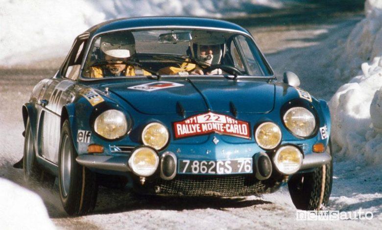 Alpine A110 al Rally di Montecarlo del 1974