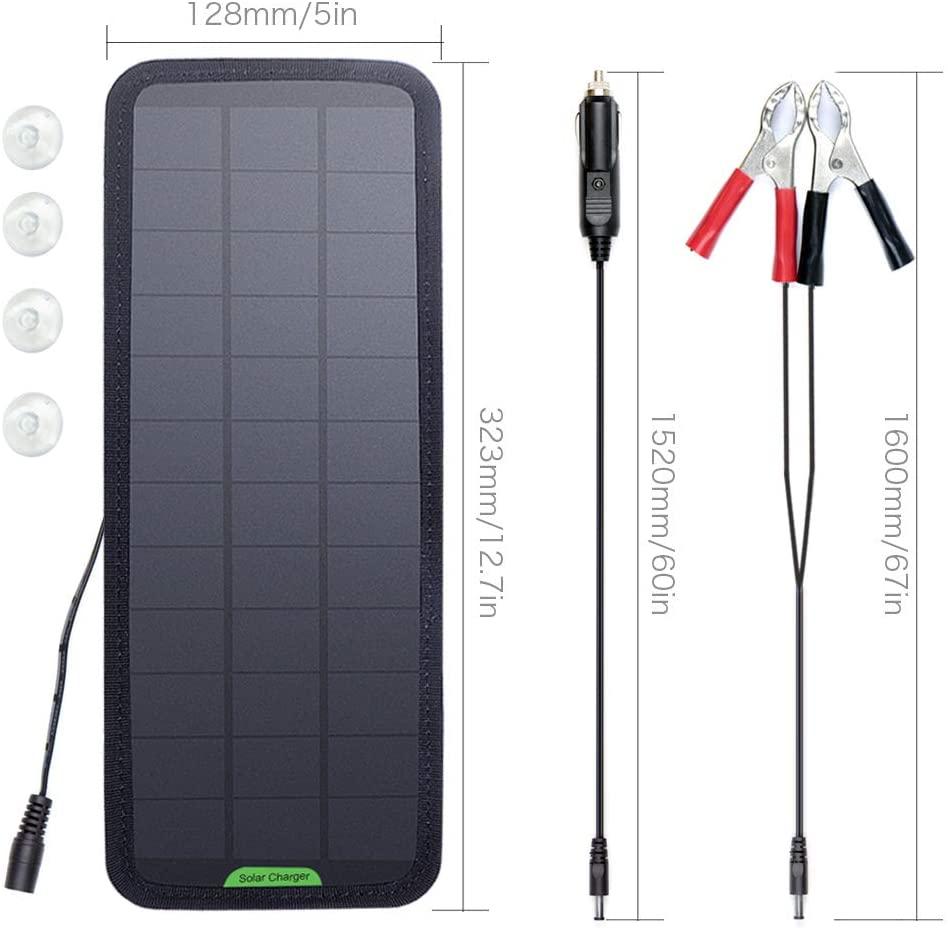 caricabatterie solare, collegabile facilmente alla presa da 12 V tipo accendisigari