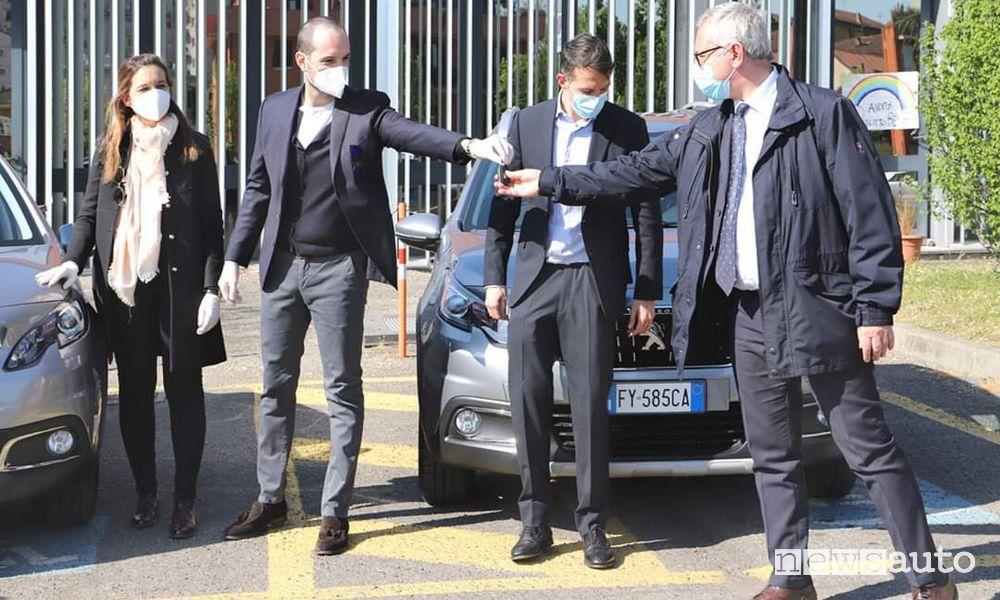 Peugeot 2008 donazioni all'AUSL di Piacenza