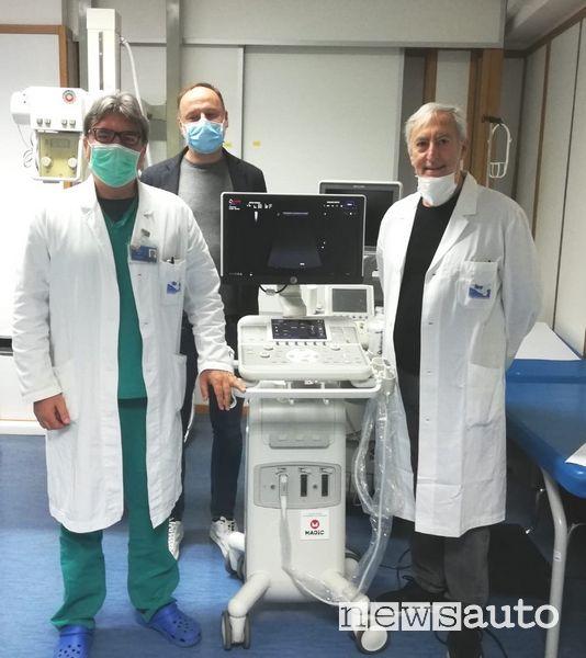 Magicmotorsport dona un ecografo al Covid Hospital di Partinico