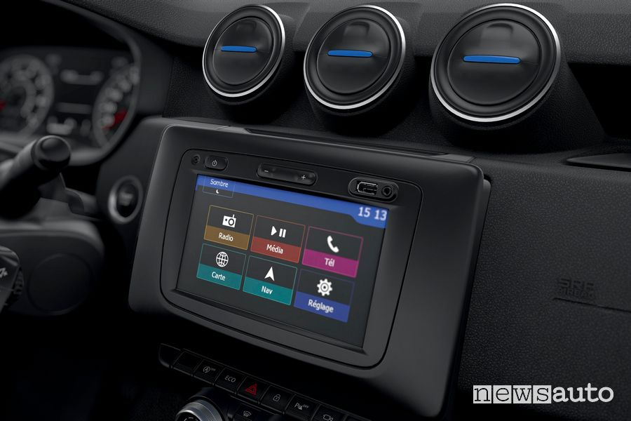 Touchscreen infotainment Dacia Duster Serie Speciale 15th Anniversary