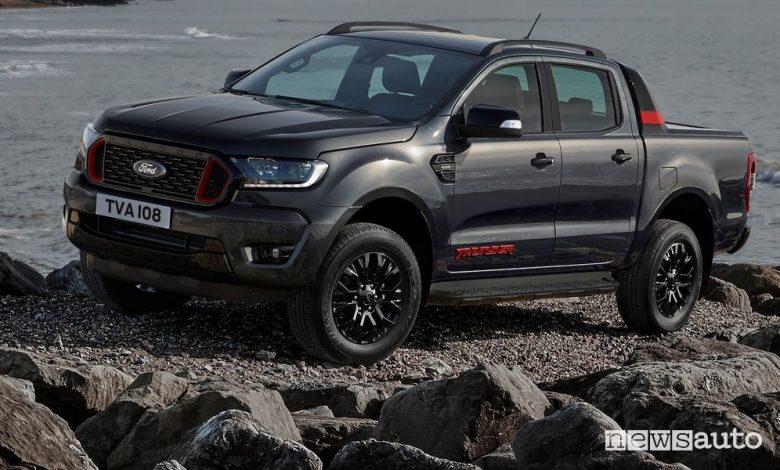 Vista di profilo Ford Ranger Thunder serie limitata