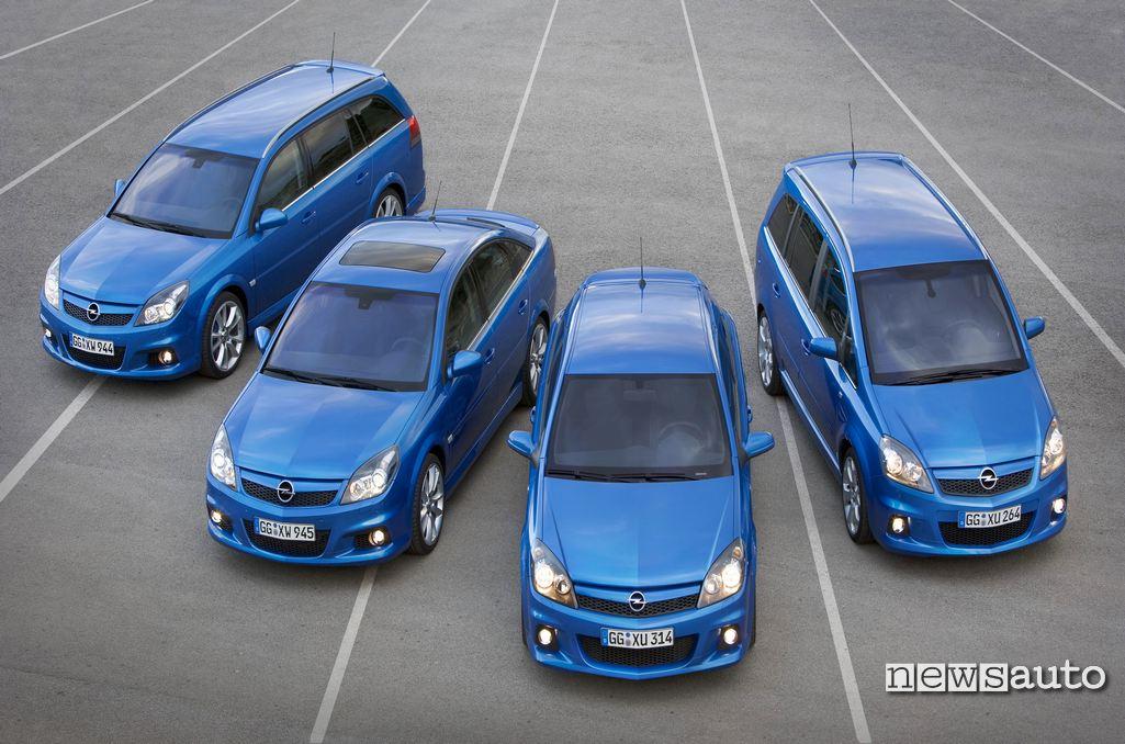 Gamma Opel OPC 2005: Vectra SW, Vectra berlina, Astra GTC, Zafira