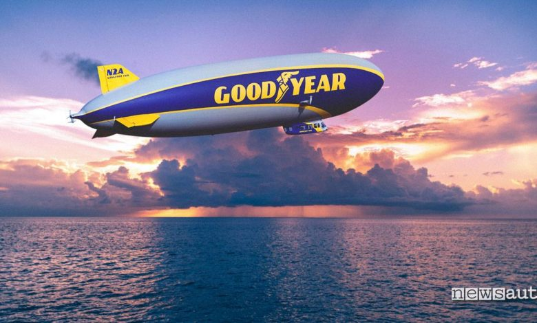Goodyear nuovo dirigibile Blimp Zeppelin torna in Europa