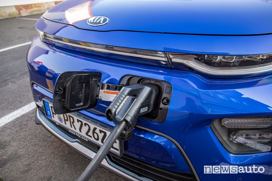 Presa di ricarica rapida CCS Kia e-Soul elettrica EV